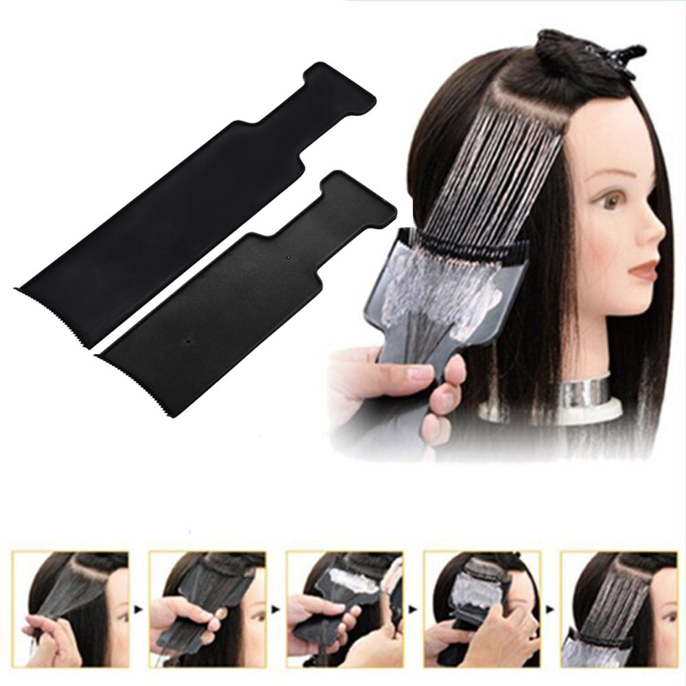 Dyeing board Hairdressing 35X8cmblack plastic Fashion  convenient safe hair tools products for air Liuhai comb hairdressing tool