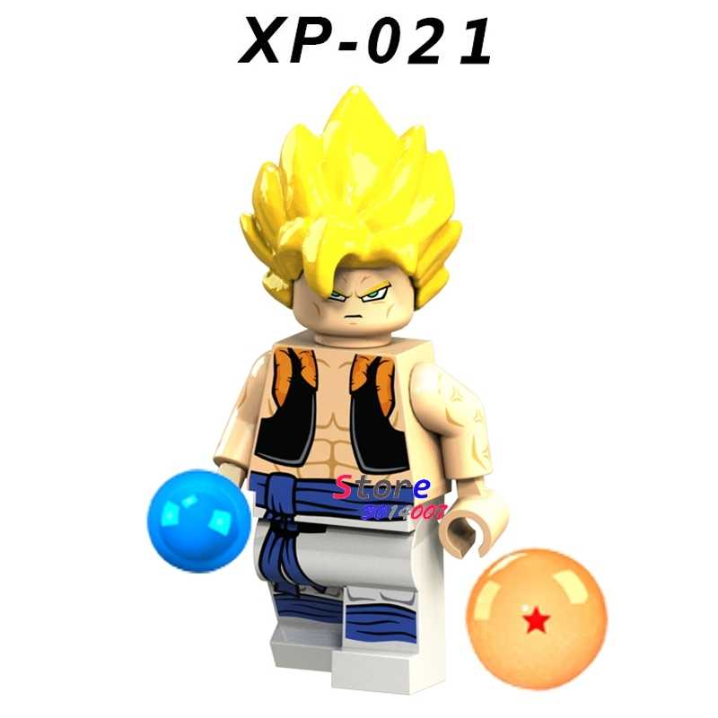 1 piezas de bloques de construcción un superhéroe Zoarium colección amigo Bola de Dragón diy juguetes para niños de regalo
