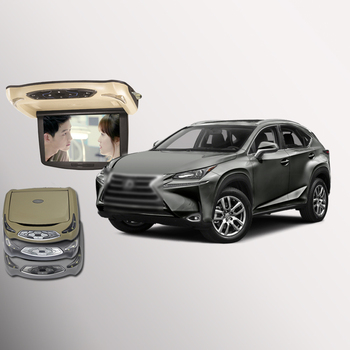 BigBigRoad For Lexus nx200t nx300h Car Roof Mounted in car Digital Screen with HDMI USB FM TV Game IR Remote Flip Down Monitor image