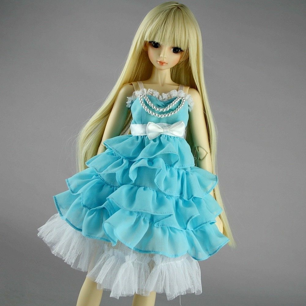 [wamami] 130# Skyblue Clothes Dress 1/3 SD DOD AOD BJD Dollfie ollin бальзам для седых и осветленных волос intense profi color gray and bleached hair balsam 200 мл