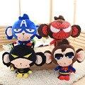 Супергерой Плюшевые Peluche Пушистые Игрушки 1 шт. 50 см Супермен Бэтмен Человек-Паук Капитан Америка Аниме Мини Игрушки для Детей Подарки игрушки 1187