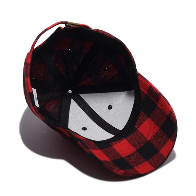 8df28a9749b Autumn Winter Plaid Baseball Cap Men Women Vintage Hats Snapback Caps Z-5272