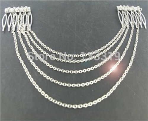 1 pièce femmes dame bohème couronne, or métal chaîne gland tête bandeau bijoux chapeaux cheveux ruban en gros