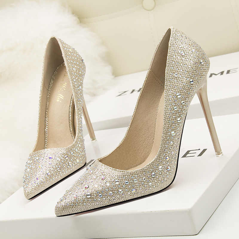 ... Exhort Mice Women Pumps Extreme High Heels Glitter Party Shoes Sexy White  Bridal Wedding Shoes Spring ... 1c6d3f11091c