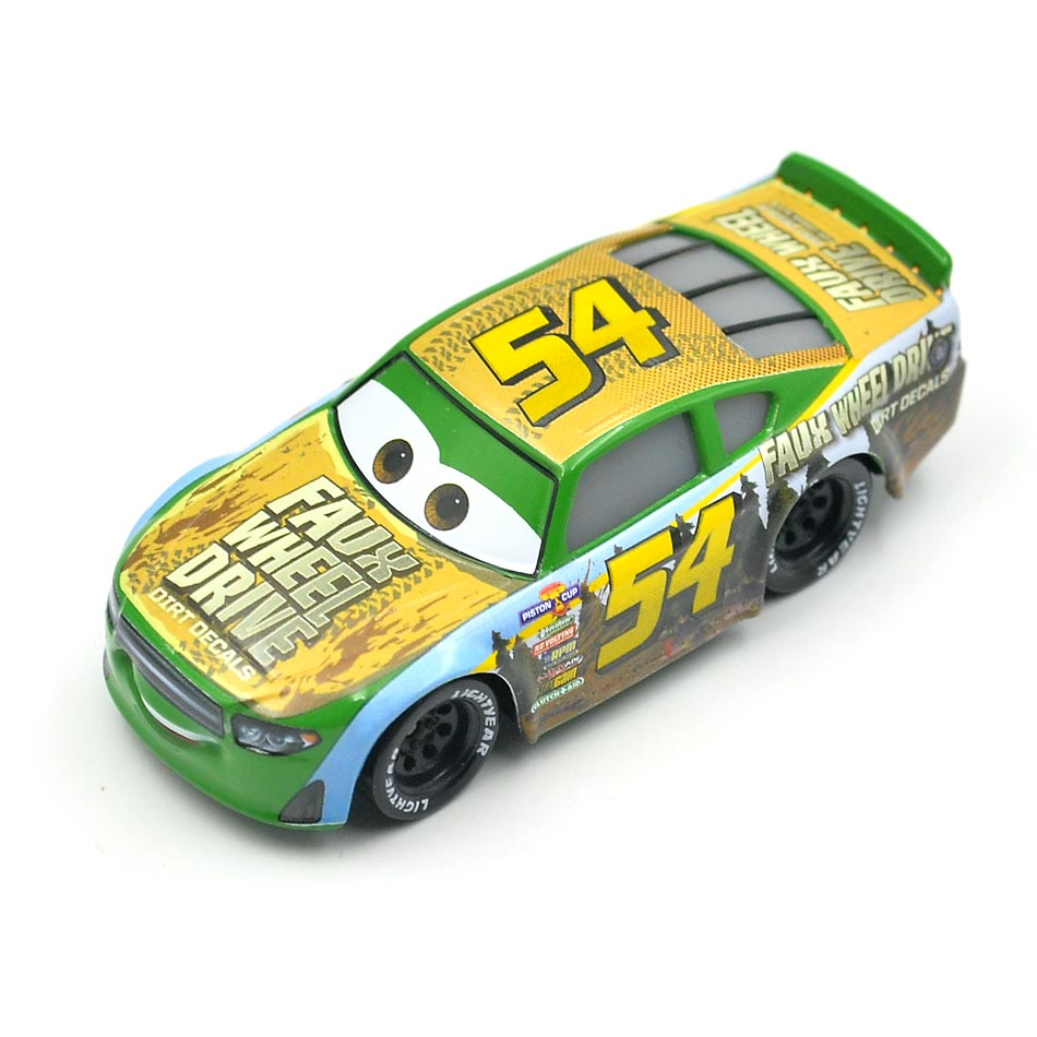 Disney Pixar Cars 3 Racing Center Tommy Highbanks NO 54 Metal Diecast Toy  Car 1:55 Loose Brand New In Stock toys for children