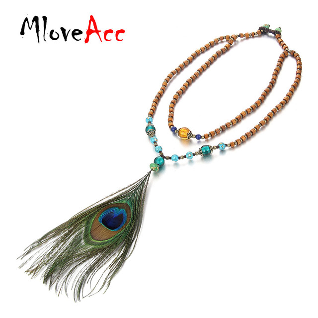 pendant products ishka feather peacock pendants