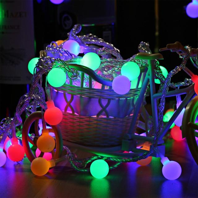 40 leds ball globe fairy string lights multi colors backyard patio 40 leds ball globe fairy string lights multi colors backyard patio lights 5m led strip night aloadofball Images