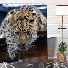 Popular Eco-friendly Custom Unique leopard Fabric Modern Shower Curtain bathroom Waterproof for yourself H0220-128