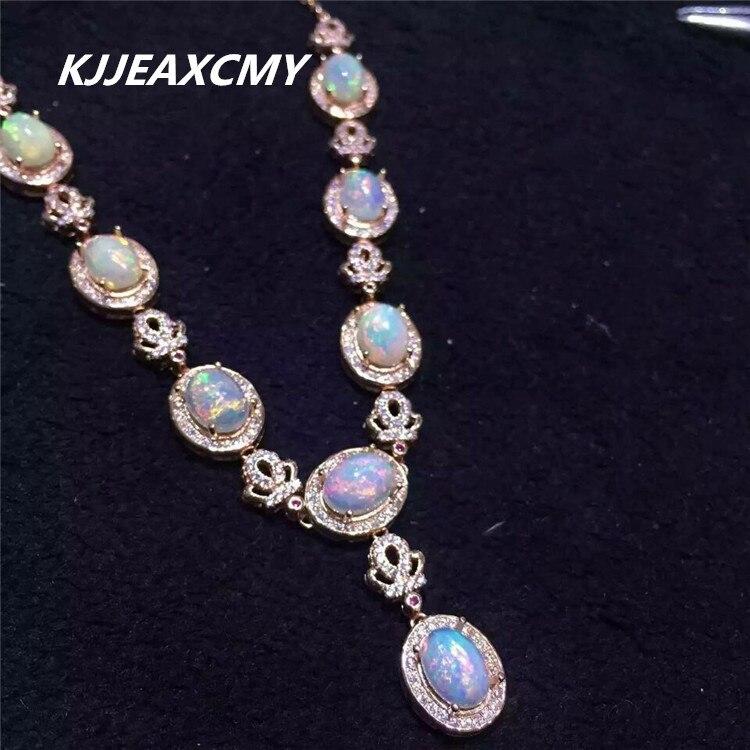 Kjjeaxcmy бутик ювелирных изделий, опал Золотые украшения ожерелье украшения натуральный Женский Пользовательские обработки