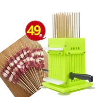 Barbecue Kebab Maker Meat Brochettes Skewer Machine BBQ Grill Accessories Tools Set Meat Skewer Machine With 49 Skewers
