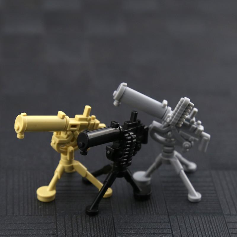 25 шт. WW2 армии Книги об оружии кирпичи Гатлинга m2 раствор Базука Building Block Интимные аксессуары пулемет модель игрушка для детей