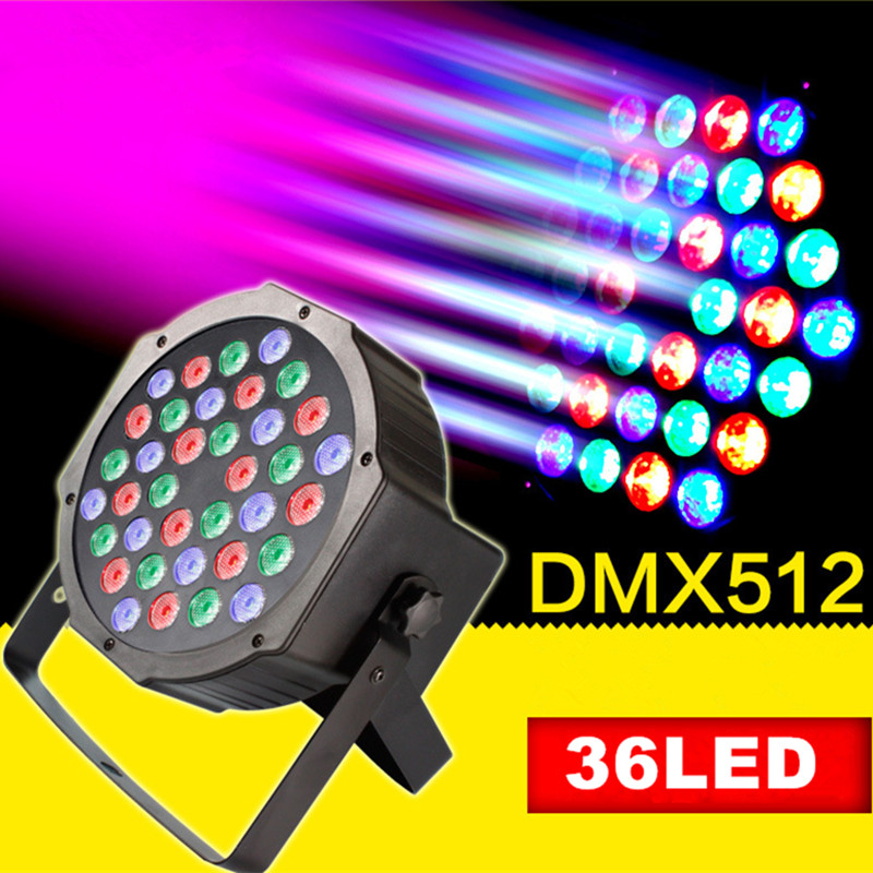 DVOLADOR 36LED Par Lights for Stage Lighting RGB Magic Effect DMX512 Laser Projector Par Lights Party show lighting