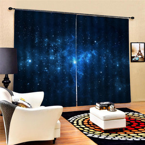 Image 4 - Bookcase Living Room Digital Print 3D Blackout Curtains Watercolor for Bedroom Decor Window Treatment Polyester Decoration Oct29