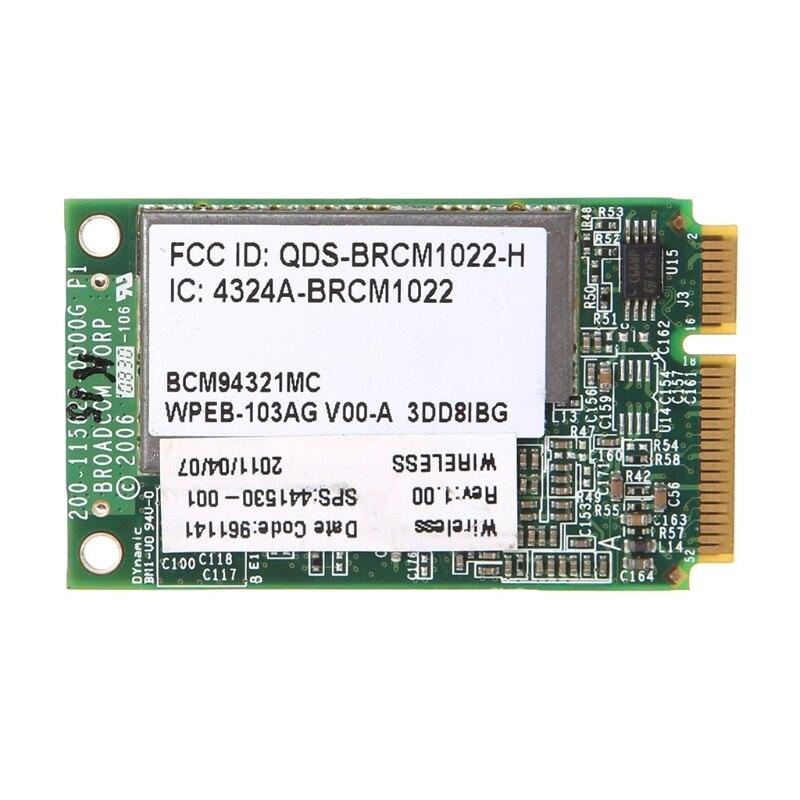 For HP Broadcom BCM94321MC 416371-001 436253-001 Mini PCI-E WiFi Wireless Card