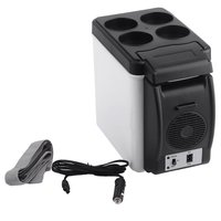 camping home Mini Size 12V Car Small Refrigerator Fridge Cooler & Warmer Enough Capacity 6L White No Need for Refrigerants
