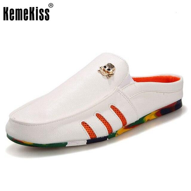 Sandalias de los hombres Zapatos Planos de Los Hombres Zapatos Casuales Perezosos Doug Ocio de Calidad de Moda Zapatillas de Punta Redonda Al Aire Libre Calzado Tamaño 39-44 M0209