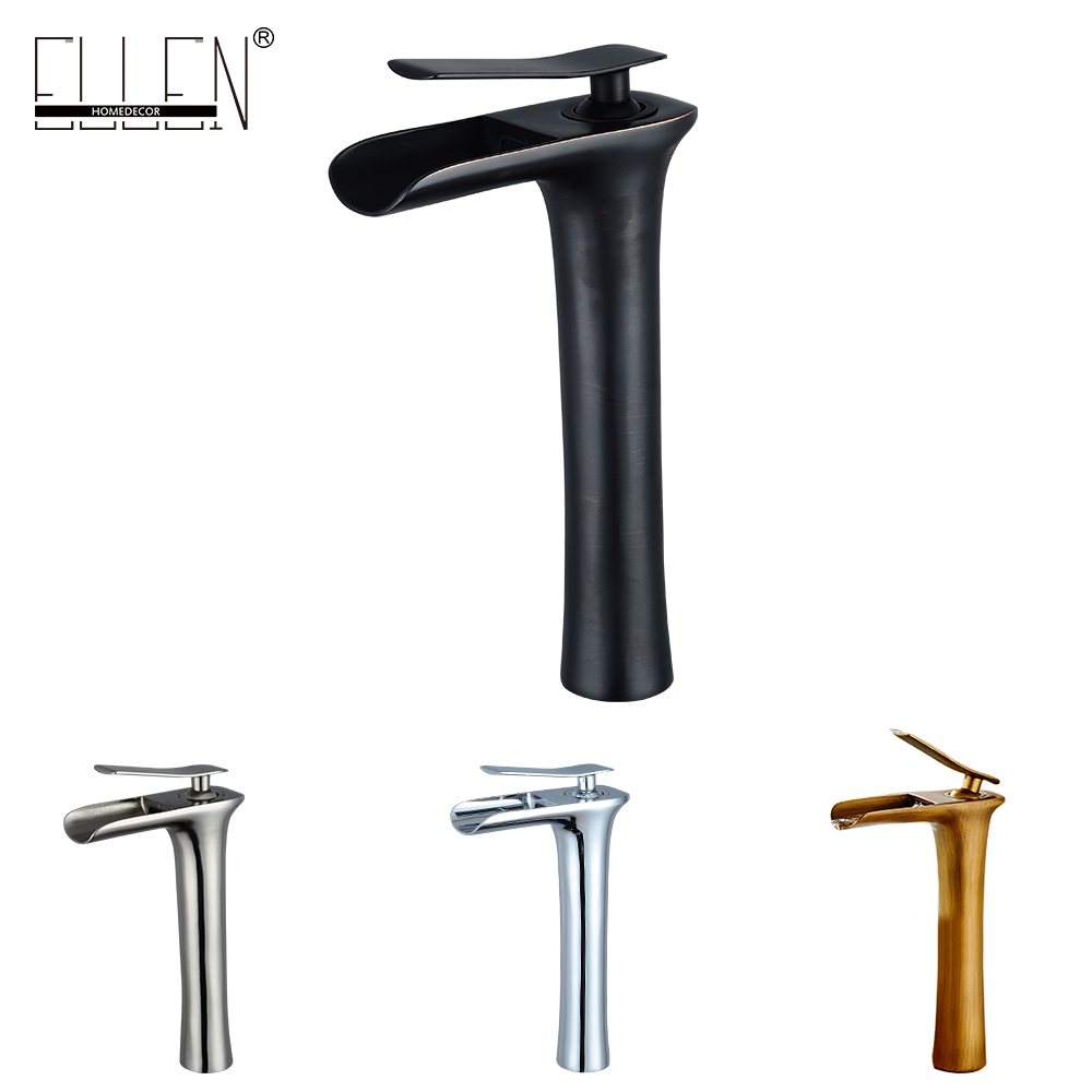 Waterfall Tall Bathroom Sink Faucet Solid Copper Hot and Cold Water Mixer Brush Nickel Antique Bronze Black Basin Faucet pastoralism and agriculture pennar basin india