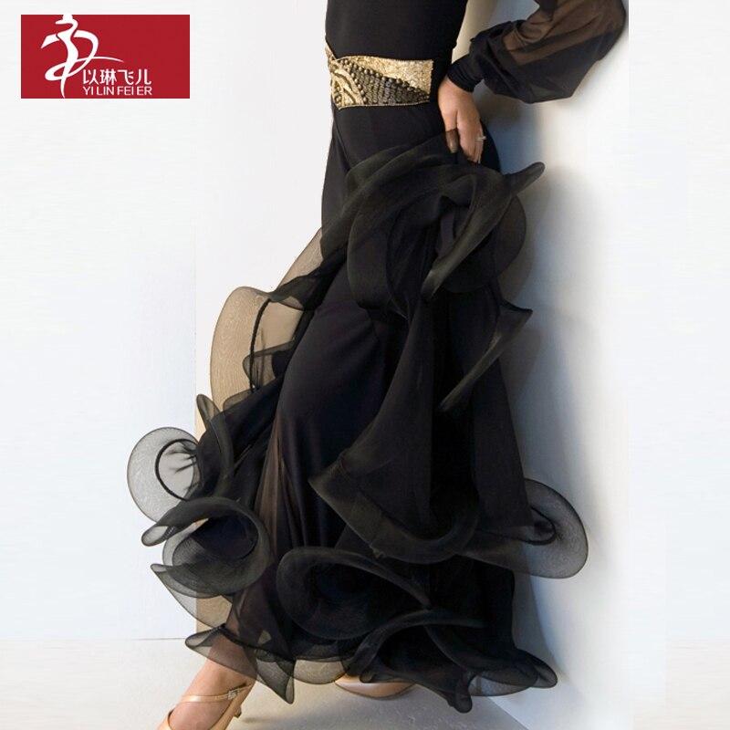 Poisson os retroussable ourlet danse moderne pratique jupe s9018 jupe danse carrée danse expansion demi-longueur jupe
