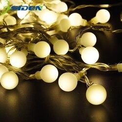 سلسلة أضواء الكرة عالية مشرق 20 متر 200LED اكليل عيد الميلاد الجنية مصابيح عطلات للخارجية الباحة حفلة جارلاند ديكو LED سلسلة