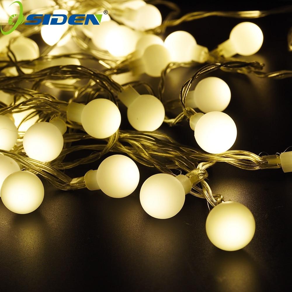 OSIDEN chaîne Lumières boule lumineuse Élevée 20 M 200LED Feston De Noël fée de Vacances lumières pour patio extérieur partie Guirlande déco