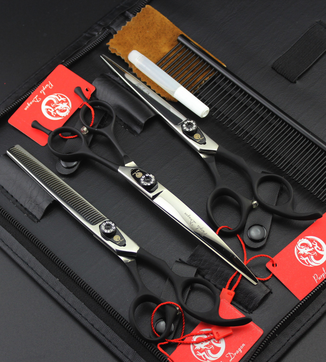 7 inch Black  Cost-effective Professional Grooming Scissors Sets Pet STRAIHT THINNING cost effective prevention