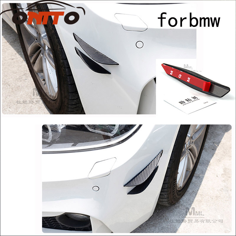 2pcs Universal modified car carbon fiber spoiler air knife decorative items for E63 E64  ...