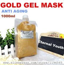 1KG 24k Gold Facial Mask Cream Gel Whitening Moisturizing Anti-wrinkle Anti Aging Hospital Equipment 1000g Beauty Salon Products