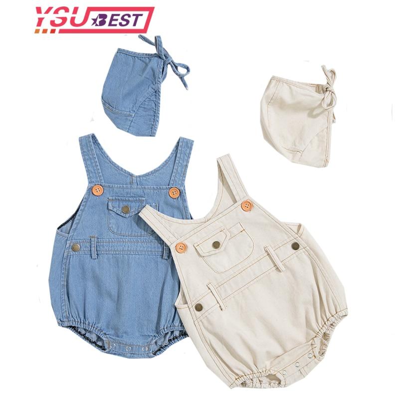 One-piece Infant Clothing Baby Romper Boys Unisex Kids Girls Overalls Newborn Clothing Denim Baby Boys Romper Loose New Jumpsuit