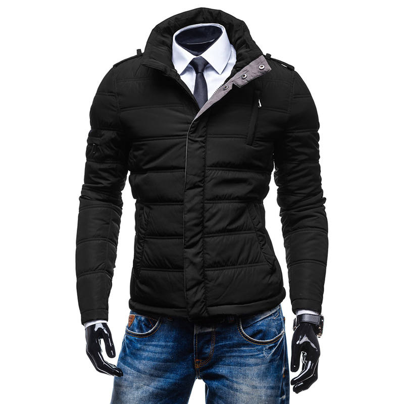 Plus Size Winter Men Jacket Coats Thicken Jackets Casual Chinese Stand Collar Overcoat Camisa Social Masculina 1153