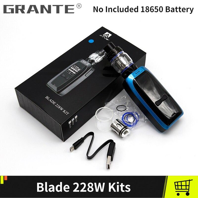 VTT LAME 228 W Boîte kit Mod Avec 228 W boîte de tc Mod 0.15ohm Bobine Sans 18650 Batterie VS SMOK X Priv kit Électronique Cigarettes