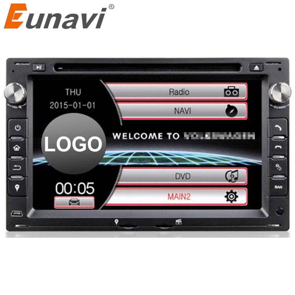 Eunavi 2 din Car DVD Player For VW/Volkswagen/PASSAT/B5/MK5/GOLF/POLO/TRANSPORTER With Radio GPS Navigation BT 1080P Ipod Map 8 inch 2 din tft screen car dvd player with radio bluetooth radio gps ipod functions for volkswagen