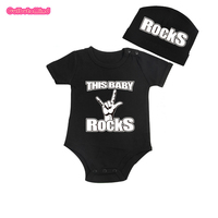 Culbutomind This Baby Rock Print With Custom Cap Baby Body Suit Baby Shower Gift Baby First