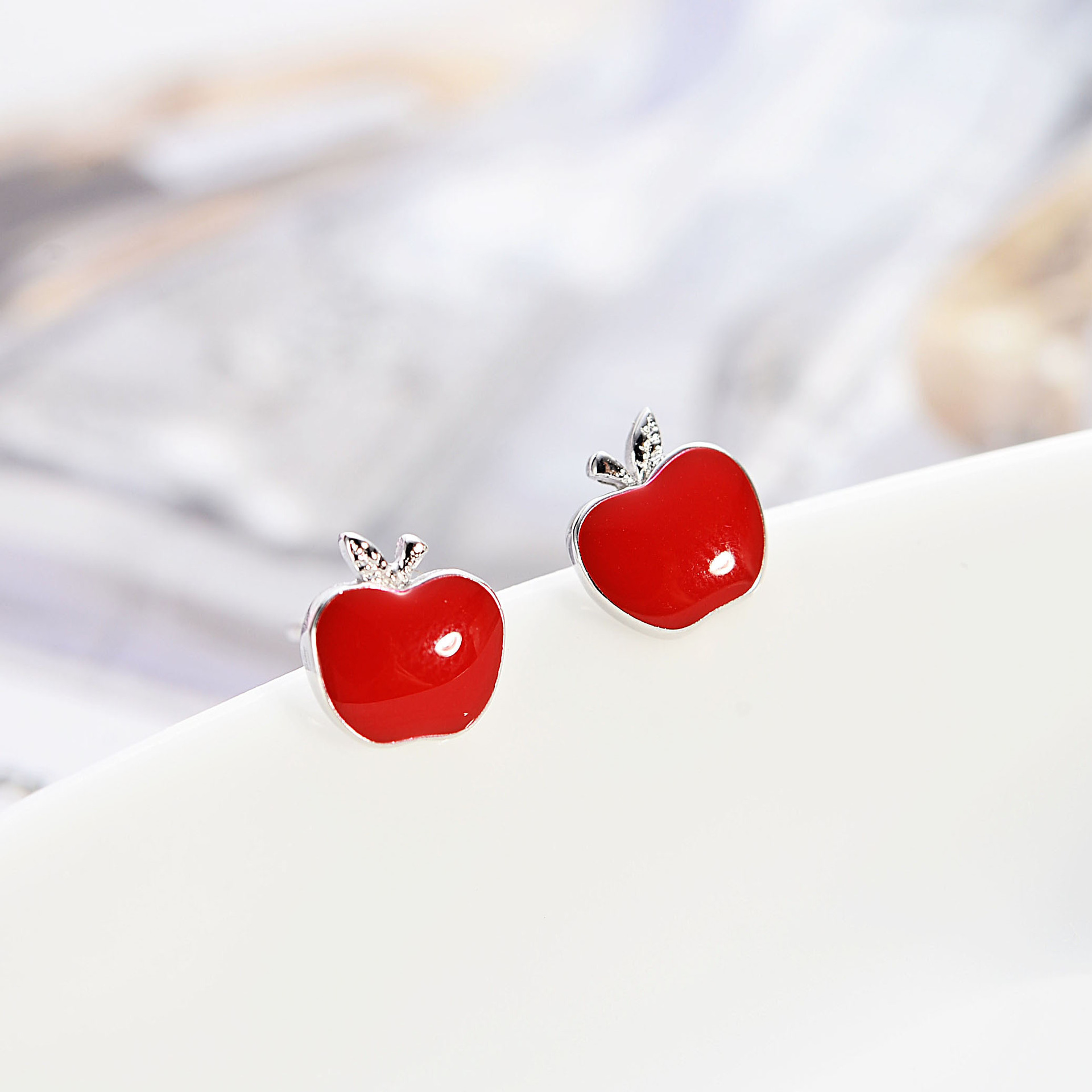 1x Piece of Sterling Silver Mushroom with Hypo-Allergenic Post Stud Earrings