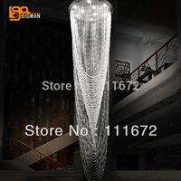 New Beautiful Guranteed 100 High Quality Dia400 H800mm Hotel Crystal Ceiling Lamp Modern For Sale Crystal