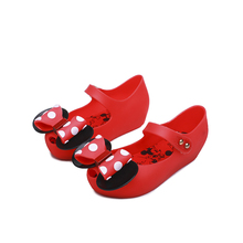 Mini Melissa Mickey Bow 3 Color Lovely Girls Jelly Sandals 2019 Summer New Children Shoes Girl
