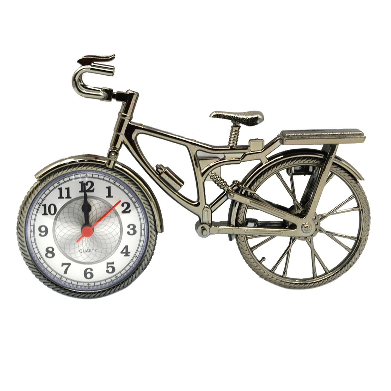 gosear novelty vintage diy bicycle bike alarm clock table desk students time clock home office decor kids birthday presentin alarm clocks from home