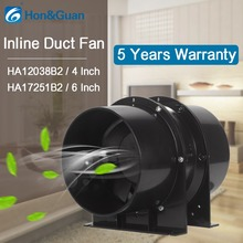 Black All Stainless Steel Exhaust Inline Duct Fan; Ventilation Fan for Grow Tents, Tent with Carbon Filters, Hydroponics