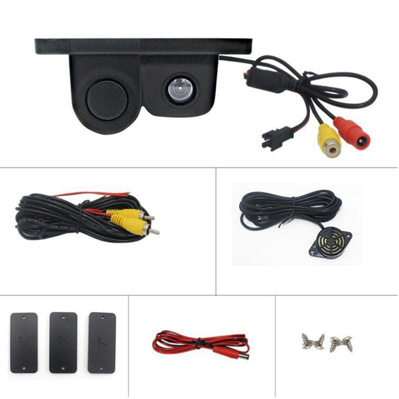 Image 3 - Car Intelligent Visual Reversing Radar Image Two In One Car Buzzer HD Night Vision Reversing Image Car Radar Camera-in DVR/Dash Camera from Automobiles & Motorcycles
