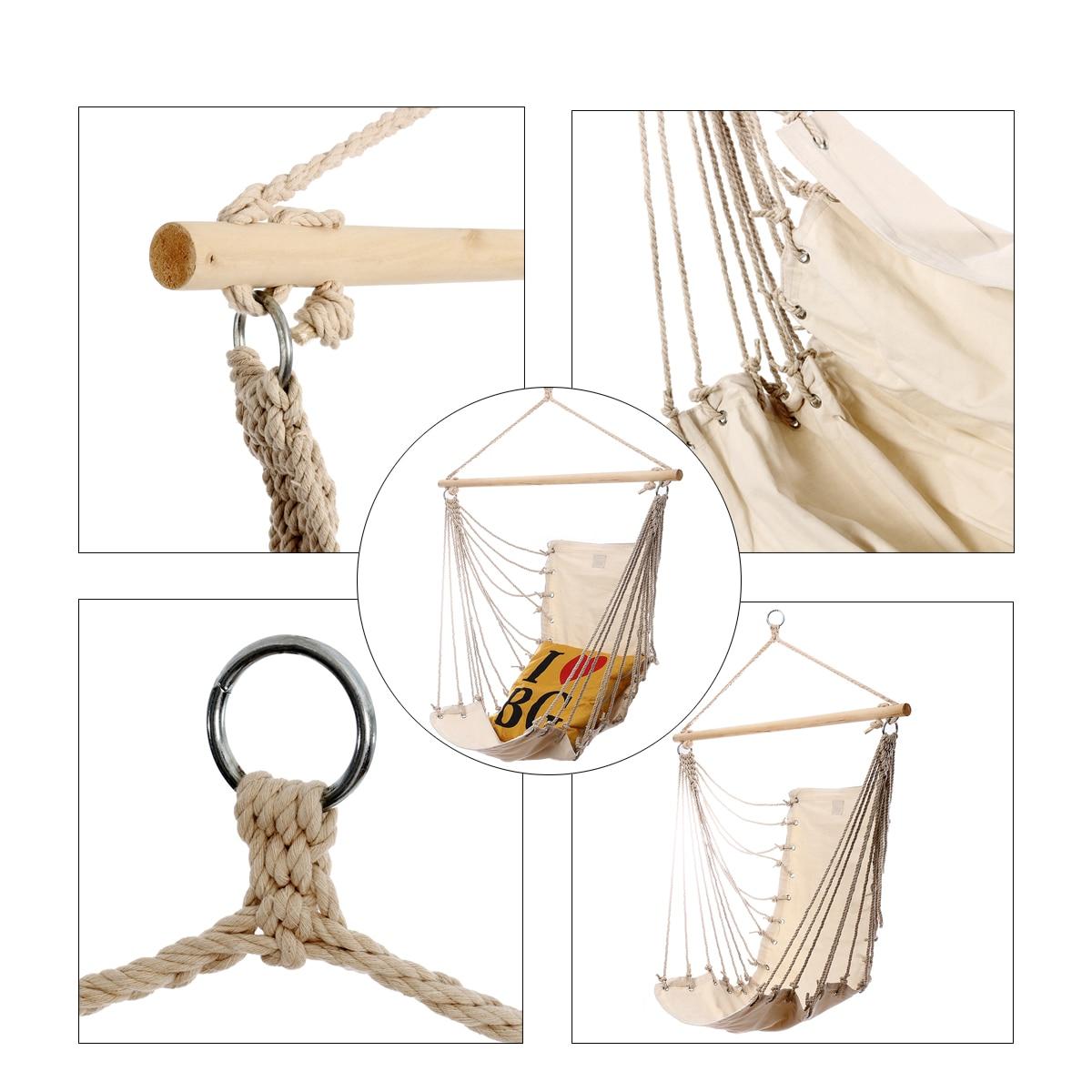 Transportable Backyard Hanging Cotton Hammock Chair Tenting Single Swing Seat Stress-free Furnishings For Baby Grownup Swinging Security Chair HTB1MUmNyHGYBuNjy0Foq6AiBFXaK