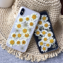 DIY Real Flowers Dried Flowers Transparent Soft TPU Cover For XIAOMI 8 lite Phone Case For xiaomi9 redmi note5 6pro note7 Cover(China)