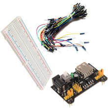 A13 MB-102 Power Module 3.3V 5V+Breadboard Board 830 Point+65Pcs Jumper cable VE818 P