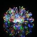 10 M/33FT 100LED de Alambre de Plata de Hadas de la Secuencia de Luz DC 12 V Para El Banquete de Boda Navidad LLEVÓ Luces de la Habitación decoración de la Venta Caliente