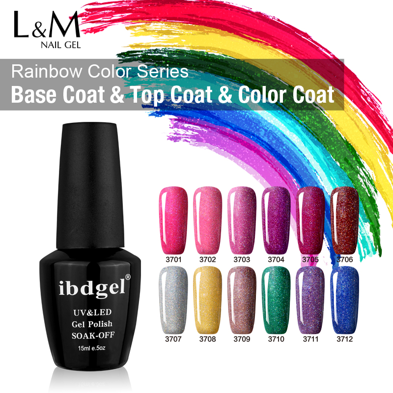 Nail Gel 50 Pcs Ibdgel 15 Ml Neon Nail Glitter Gel Polish Uv/led Soak Off Nail Gel 12 Colors Rainbow Nail Gel Lacquer Curing Cough And Facilitating Expectoration And Relieving Hoarseness Nails Art & Tools