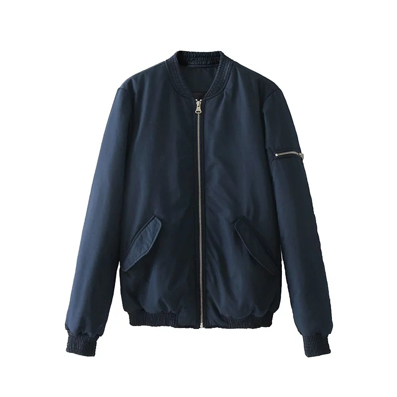 Fashion New European And American Fashion Fashion Collar Long Sleeve Sleeve Cotton Porter Coat european and american 2017 new lychee grain 100