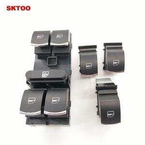 HIGH QUALITY 5ND959857 5K4959857 / 5ND959855 Chrome Master Window Switch For Golf MK5 MK6 Tiguan Touran Jetta Passat(China)