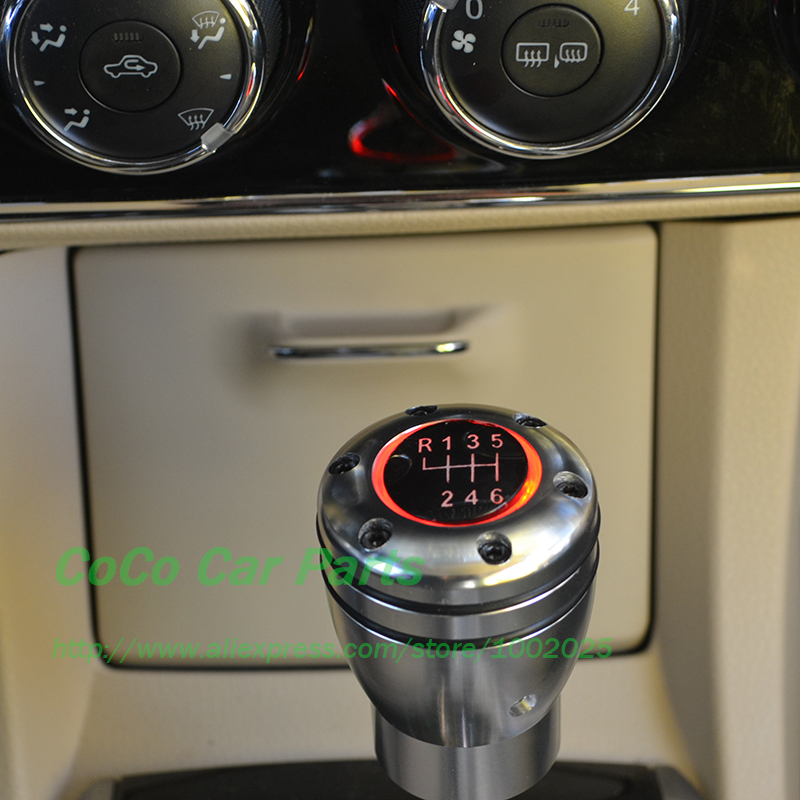 led 6mt auto gear shift knob red blue light 6 speed racing. Black Bedroom Furniture Sets. Home Design Ideas