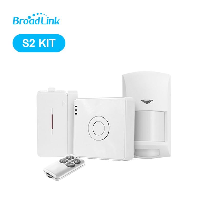 Nouvelle Arrivée Broadlink S2-HUB Sécurité Système D'alarme Kit Détecteur Motion Sensor Télécommande Pour Smart Home Automation Anti-thef