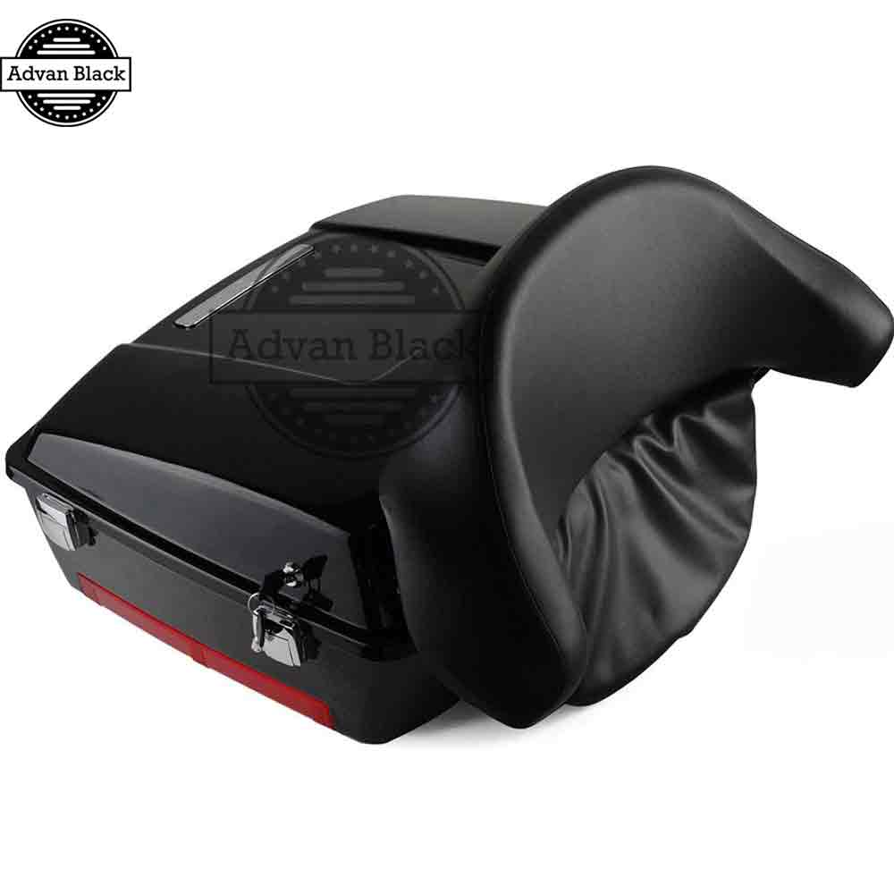 AdvanBlack Vivid Black Chopped Tour Pack Pak Backrest  For Harley Touring Street Electra Road Glide Road King 1993-2013 чернила inksystem для фотопечати на epson workforce pro wp 4590 фоточернила