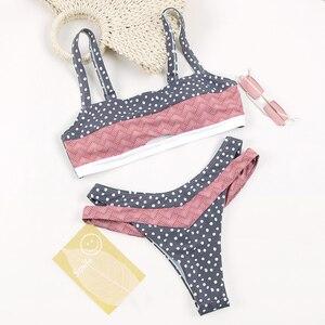 Image 3 - דוט טלאים Bandeau ביקיני 2019 באיכות גבוהה לדחוף את ביקיני נשי ביקיני סט בגד ים נשים חוף Feminino עשוי Biquinis