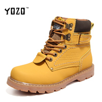 YOZO Unisex Shoes Men Boots Fashion Lace Up Chelsea Boots Women Martin Boots High Quality Winter